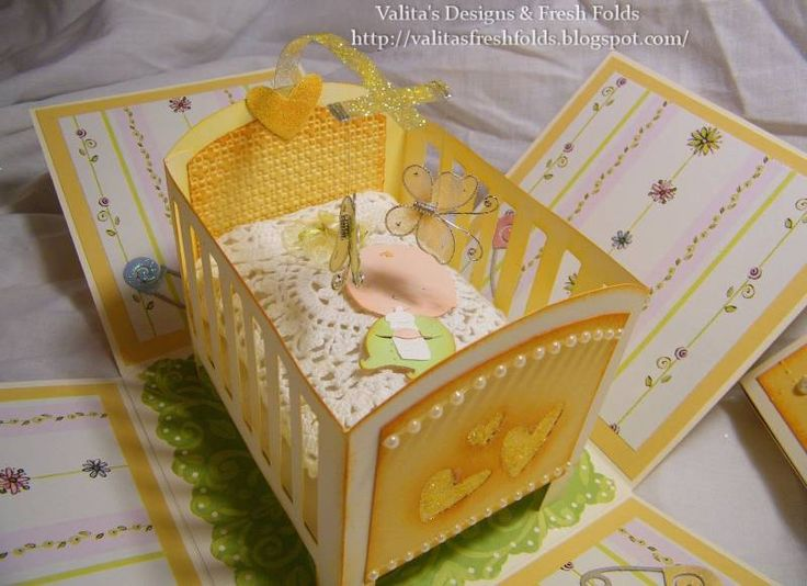baby shower explosion box by adelecards - Cards and Paper Crafts at Splitcoaststampers