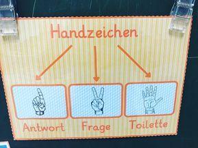 """Gefällt 85 Mal, 6 Kommentare - Frau G. (@fischklasse) auf Instagram: """"Unsere Handzeichen ☝✌ #fischklasse #grundschule #handzeichen #schule #schulalltag #wsc"""""""