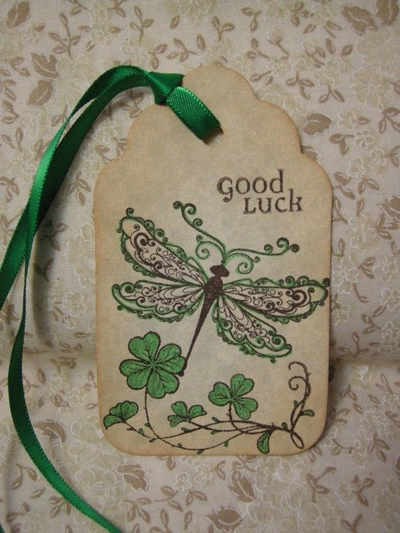 Irish dragonfly x6 good luck irish blessing vintage style for Luck of the irish tattoos