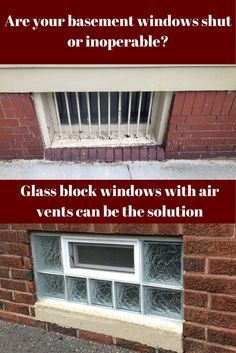 Opening basements windows can be impossible! Removing old wood framed windows and using glass block windows with air vents can be one solution. These windows are available in prefabricated units for DIY installation as well. Click here to learn more - http://blog.innovatebuildingsolutions.com/2015/06/13/fix-top-5-basement-window-problems/