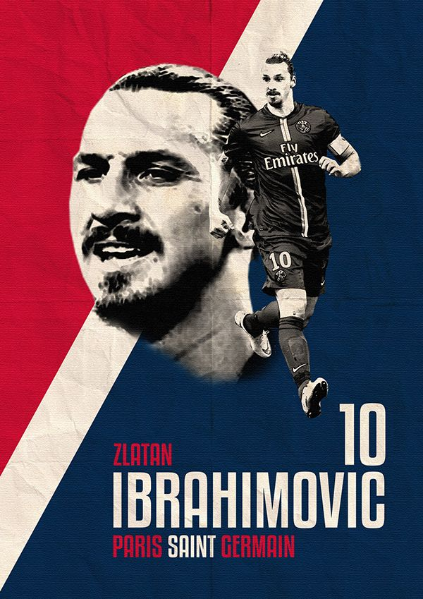 Zlatan Ibrahimovic Paris Saint-Germain Poster