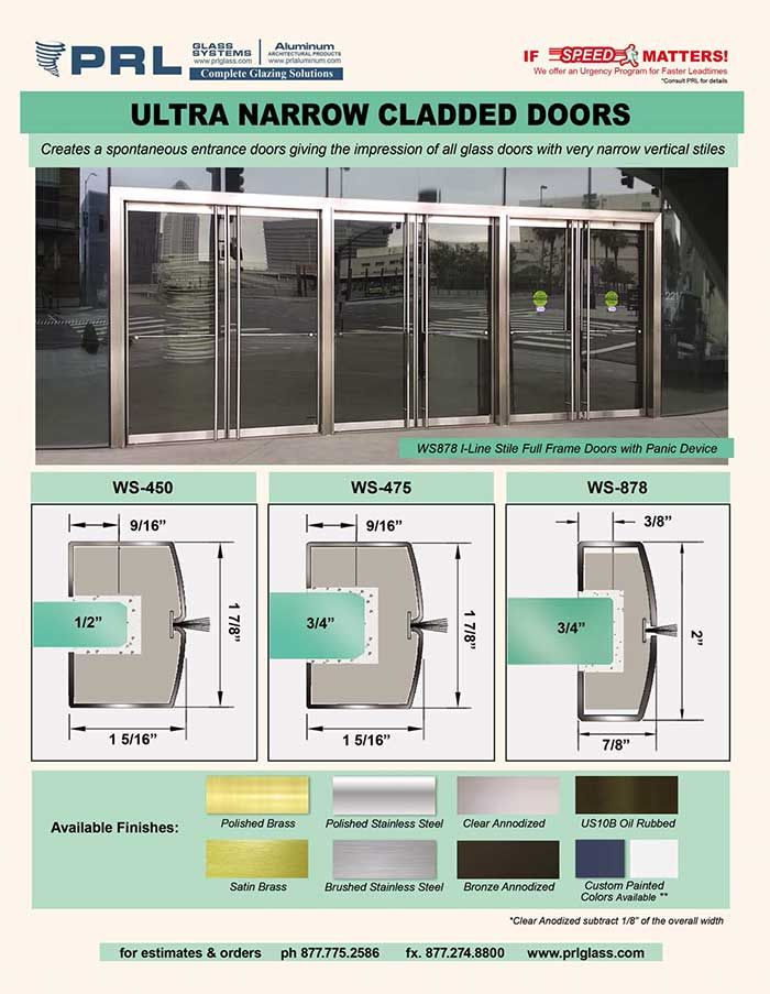 Ultra Narrow Stile I Line Doors From Prl Southern California S Leading Glazing Manufacturer Utilizing Ultra Narrow Vertical Stile Doors Narrow Entrance Doors