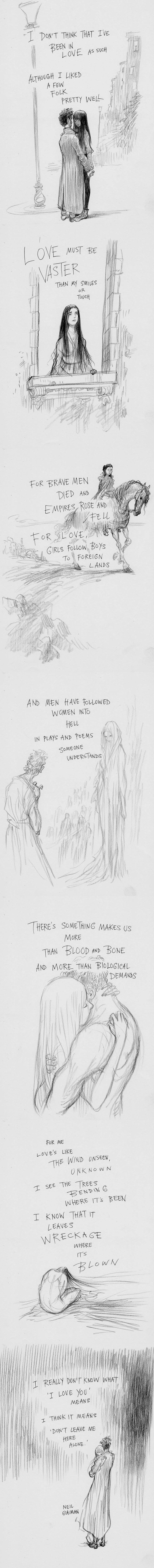 Chris Riddell illustrates Dark Sonnet by Neil Gaiman