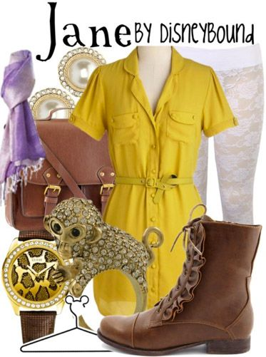 I love everything about this Jane (Tarzan) inspired outfit