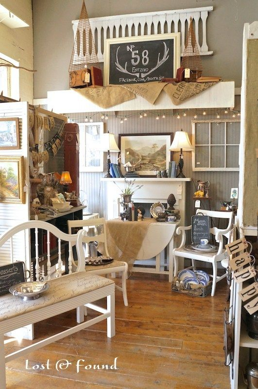 how to set up an antique mall booth