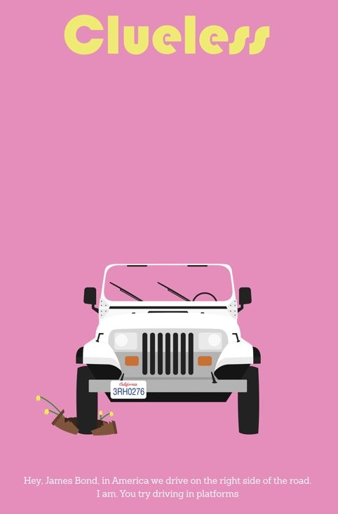 Clueless (1995) ~ Minimal Movie Poster by Jarrod Joachim #amusementphile