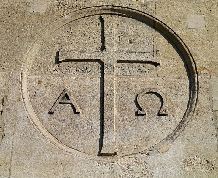 symbol for alpha and omega - Google Search
