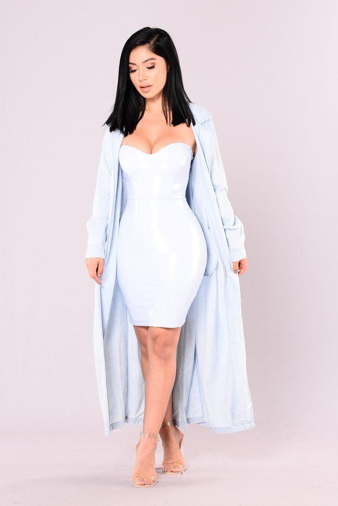 Winifred Tube Dress - Blue