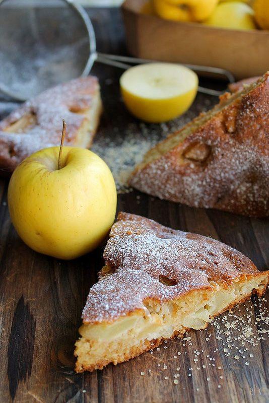 Gâteau au yaourt de soja, aux pommes {sans lait} | Emilie and Lea's Secrets