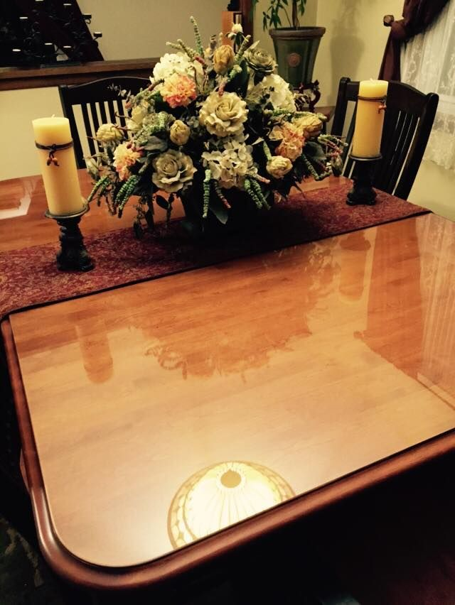 Customer Project Custom Cut Glass Table Cover