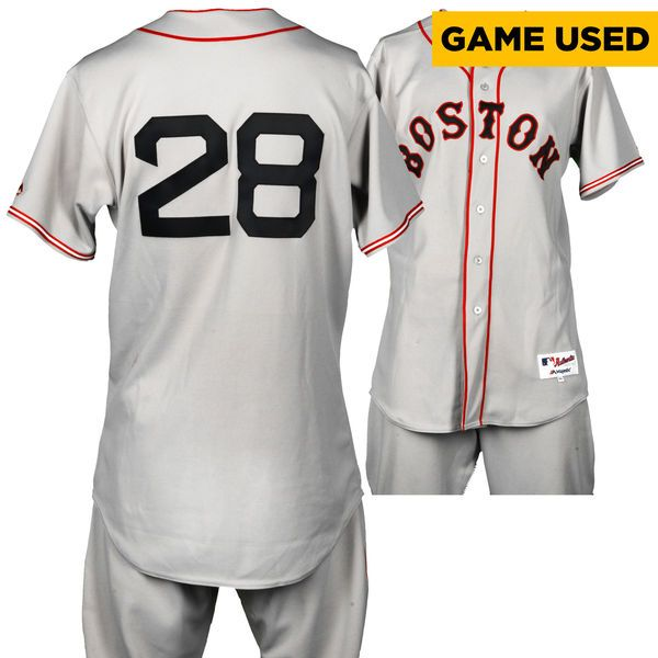 Robbie Ross Boston Red Sox Fanatics Authentic Game-Used #28 Gray Throwback Uniform on September 7, 2016 vs San Diego Padres - $699.99