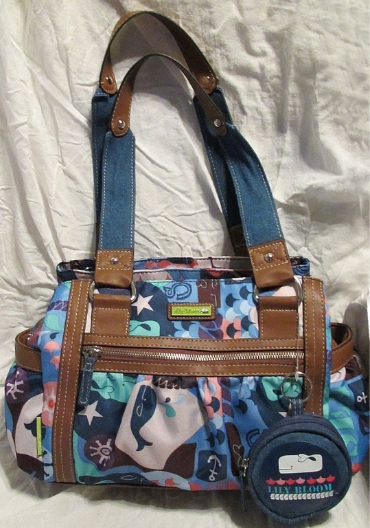 """ECO-FRIENDLY """"LILY BLOOM"""" BAGS,made from recycled bottles"""