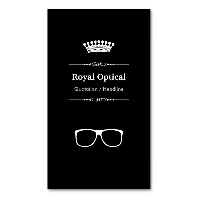 2132 best eye doctor business cards images on pinterest eye doctor optical shop professional modern black white double sided standard business cards pack of reheart Gallery