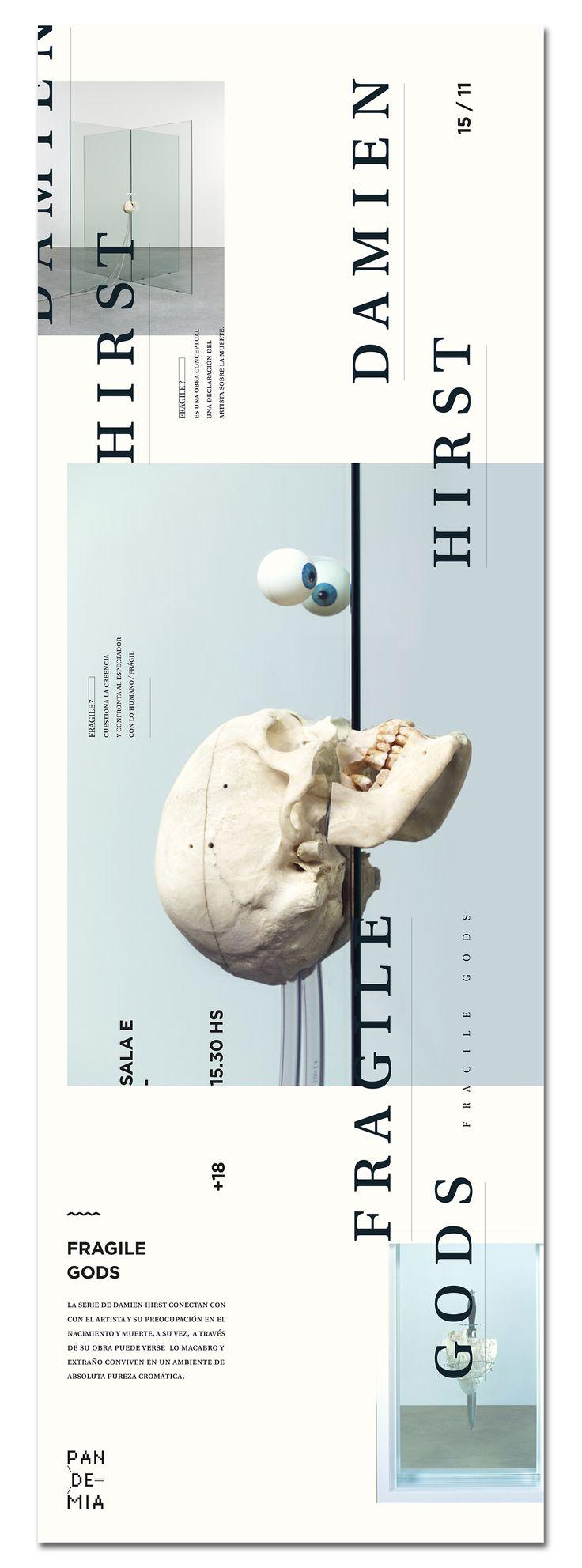 Exposición de esculturas del artista británico Damien Hirst, para el festival Pandemia · Proyecto final para la materia Diseño III · Cátedra Gabriele · FADU / UBA