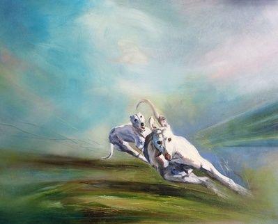 Coming, by Julie Brunn - Artist - Dogs