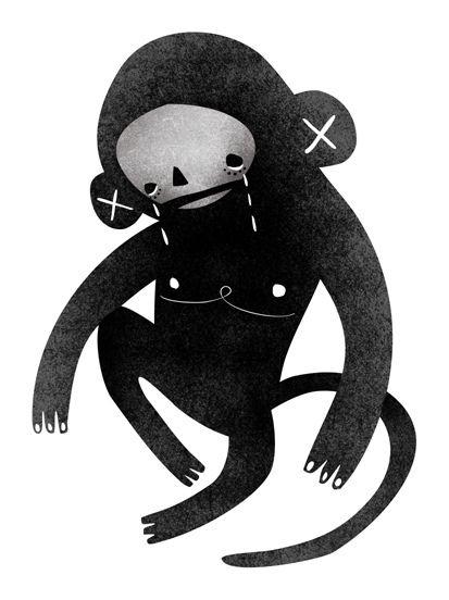 The sad monkey :(    Nežka Šatkov   Nezka Satkov