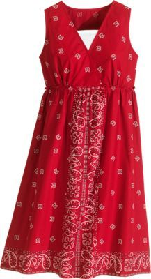 Sleeveless Bandana-Print Dress