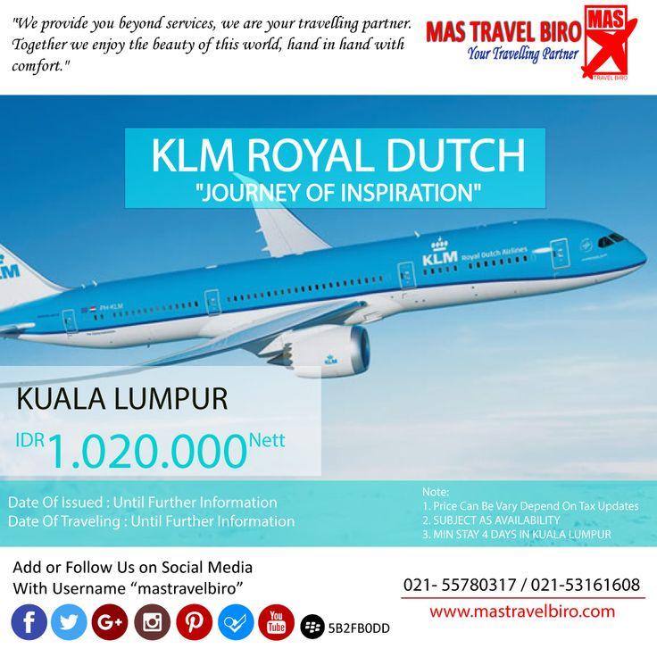 HOT PROMO Tiket KLM ROYAL DUTCH, Cek yuk Sekarang selagi ada!  Beli tiket pesawat & KAI, booking hotel dan beli paket tour diMas Travel Biro ajaa.  #mastravelbiro #promotiket #travelservices #tiketpesawat #travelagent #tourtravel #travelindonesia #opentrip #familytour