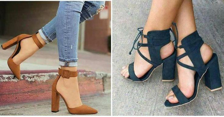 28 diseños de zapatos con tacón ancho, ¡cómodos y femenino!
