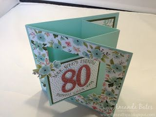 The Craft Spa - Stampin' Up! UK independent demonstrator : Birthday Bouquet Large Pop Out Swing Card