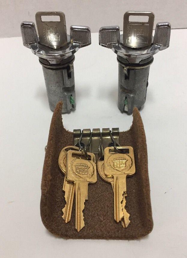 Vintage Ignition Locks Keys Cylinder Set With Key Case from Dealer