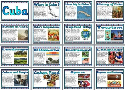cuba history geography and culture History, language and culture guide for cuba including key historical events,  information on the spoken languages, useful phrases, social conventions,  religion.