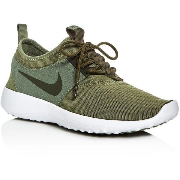 classic fit 97f12 854c0 Nike Womens Juvenate Lace Up Sneakers ( 85) ❤ liked on Polyvore featuring  shoes, sneakers, palm green, nike sneakers, palm tree sneakers, nike, ...