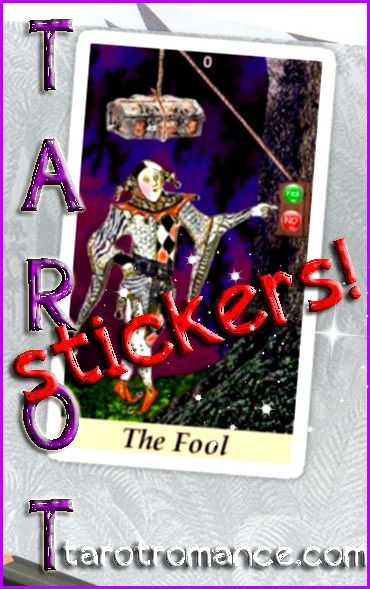 Cool Tarot Stickers! All sizes, 20 designs! Removable, individually die-cut vinyl ideal for smooth surfaces like laptops, journals, windows, walls etc. 50% discount on 6+ Small stickers. The Fool says: Just do it! What are you waiting for? Time to take a risk :) #tarotcards