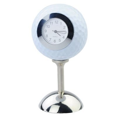 Golf Ball Table Desk Clock with Stand