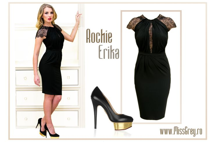 Lovely little black dress with lace, by Miss Grey