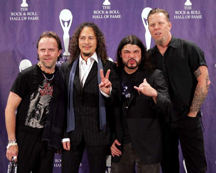 Left to Right: Lars Ulrich, Kirk Hammett, Robert Trujillo