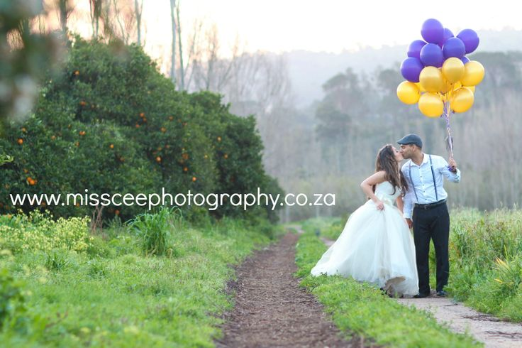 More Here: http://www.missceephotography.co.za/?p=1344 #styled session , #Woodlands , #Fairytale , #Bridal Shoot , #missceephotography #balloons #couple