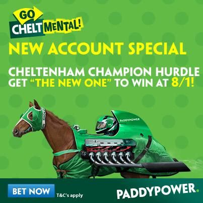 PP are running with an 8/1 special. Cheltenham Festival Tips, The New One, Paddy Power free bets, odds.