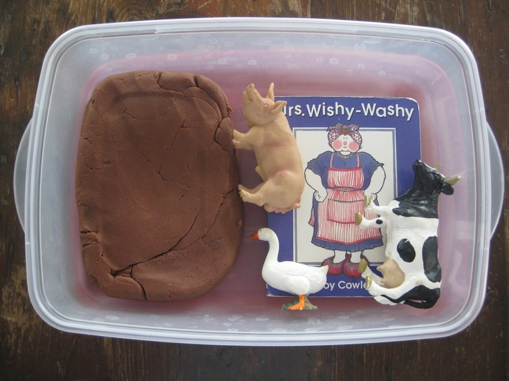 #Dirt Play Dough Recipe # Mrs. Wishy Washy books by Joy Cowley