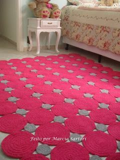 marcia sartori crochetando - check out all the unique ideas for crocheted rugs on this site