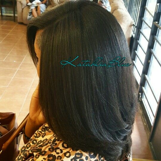Silk Blow Out on Natural Hair