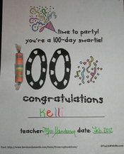 Pin by TeachWithMe.com Education on 100-Day Activities | Pinterest