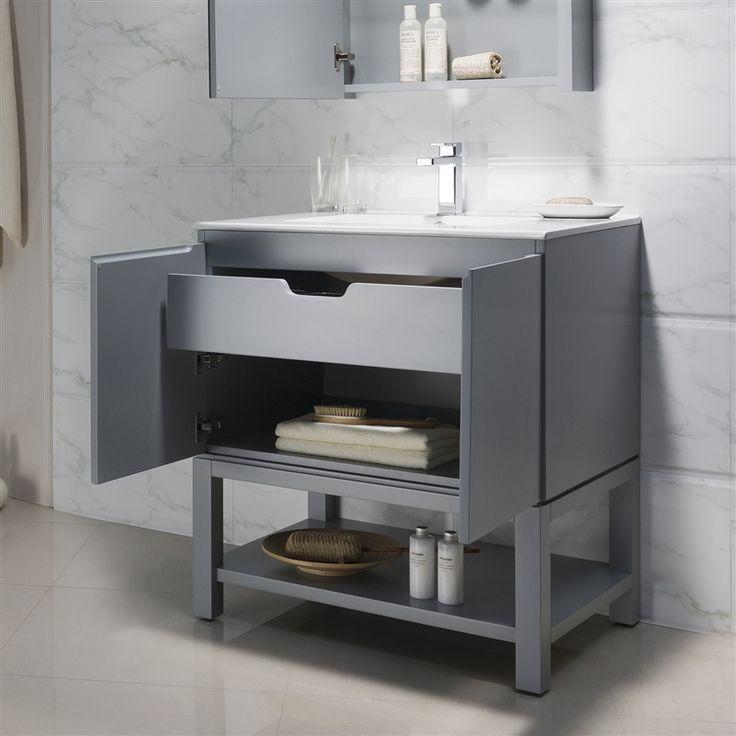 Images On Modern Bathroom Vanity Emmet with Porcelain Top