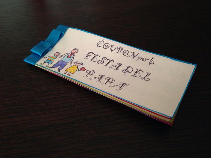 Festa del papà, buoni regalo  idee da fare con i bambini - coupon father's Day ideas - http://www.cookandcraft.it/festa-del-papa-idee-lavoretti/