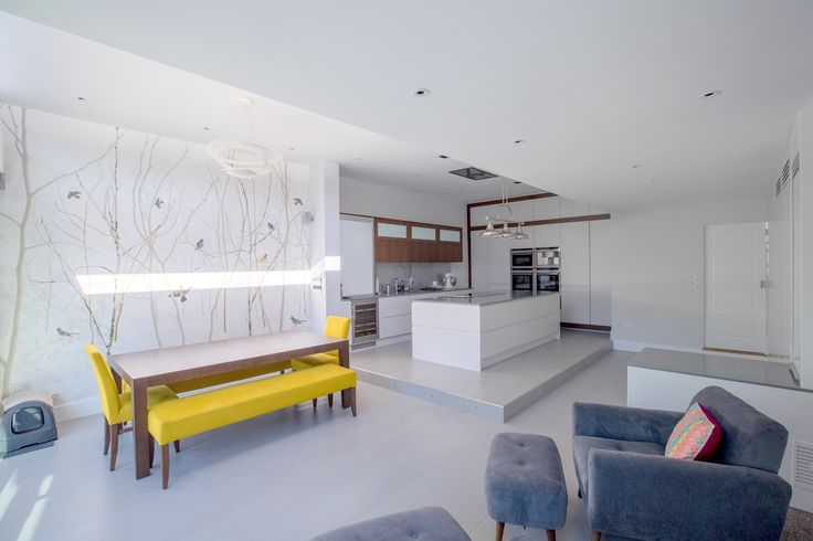 Beautifully modern open-plan kitchen and dining room within new extension.