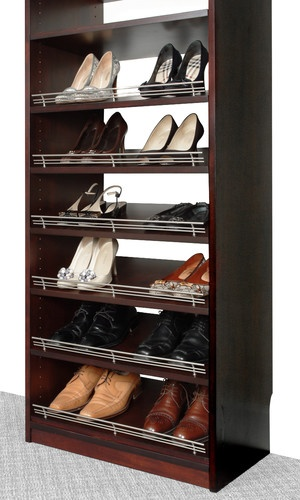 Closet Organizers Shoe Rack with Fence by Solid Wood Closets - modern - closet organizers - los angeles - Solid Wood Closets, Inc.