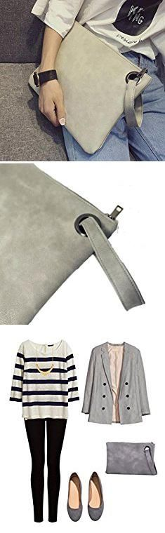 Grey Clutch Purse. Evening and daily casual clutch bag (gray).  #grey #clutch #purse #greyclutch #clutchpurse