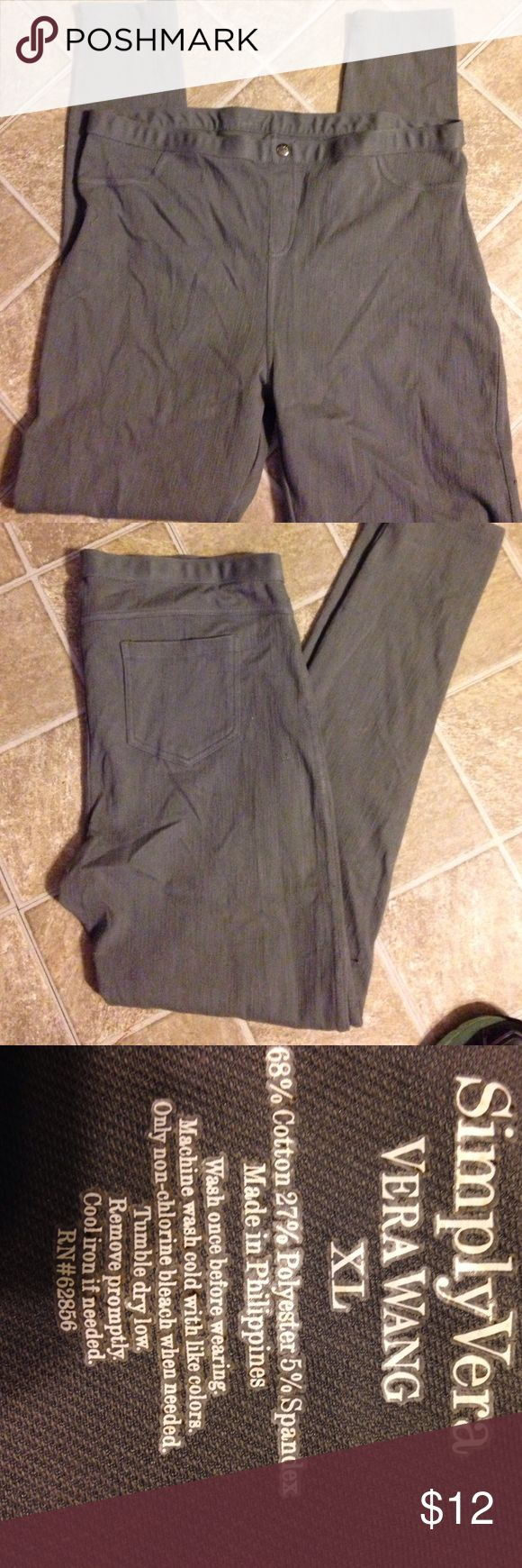 Simply Vera  Vera Wang leggings  Sz XL Simply Vera  Vera Wang leggings  Sz XL Simply Vera Vera Wang Pants Leggings