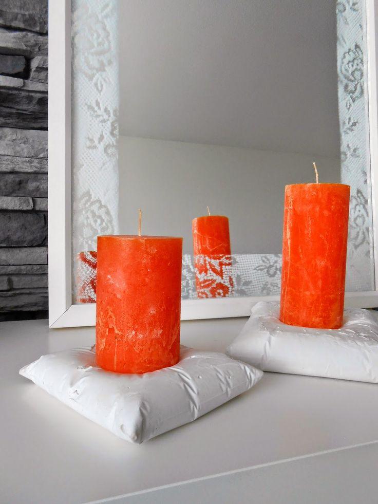 DIY gypsum candle holder