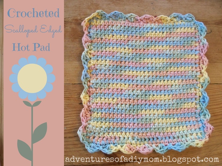 Free Crochet Dishcloth And Potholder Pattern : 17 Best images about Crochet/Knit Potholders/Dishcloths ...