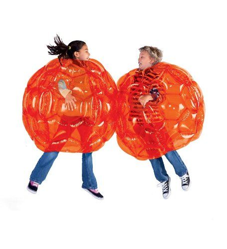 Inflatable bumper ball suit.