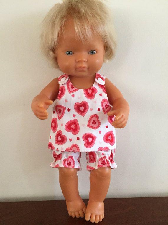 Red Hearts and Stripe Reversible Sundress by DebsDollsClothes