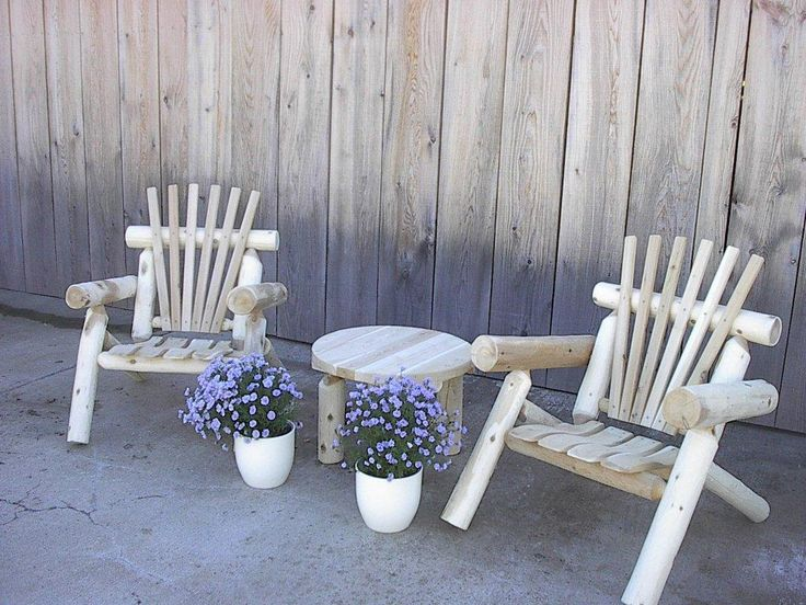 25 best White Rustic Cedar Log Furniture images on Pinterest