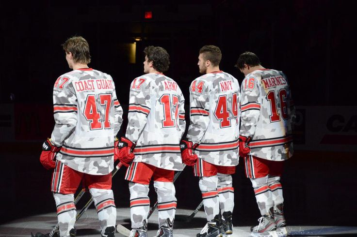 Ohio State hockey salutes armed services 2014