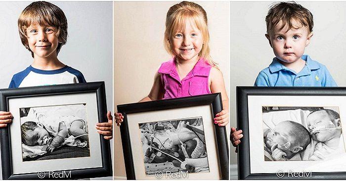Недоношенные дети со своими фотографиями, сделанными сразу после рождения - http://wuzzup.ru/nedonoshennyie-deti-derzhashhie-v-rukah-svoi-fotografii-sdelannyie-posle-rozhdeniya.html